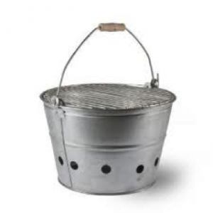R&R Portable Galvanised Zinc BBQ £45